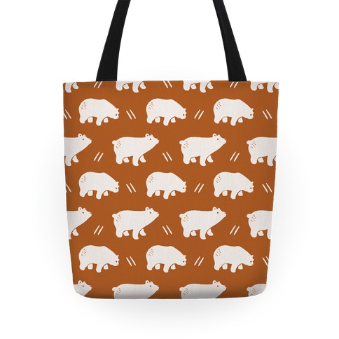 Bear Rust Boho Pattern Tote