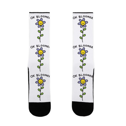 Ok Bloomer Flower Sock