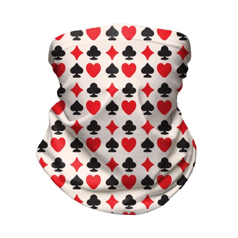 Card Deck Symbols Pattern Neck Gaiter
