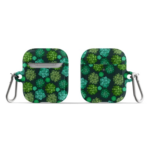 Green Succulent Pattern AirPod Case