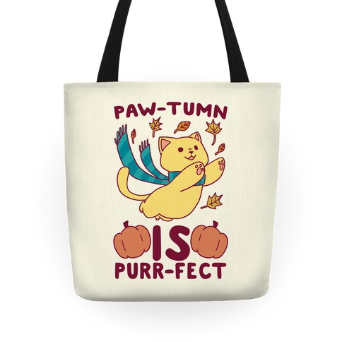 Paw-tumn is Purrfect Tote
