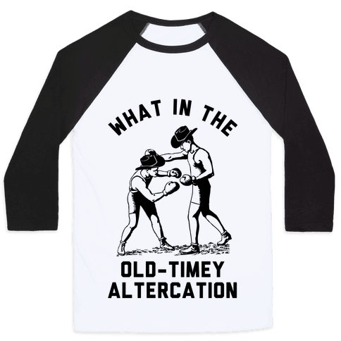 Old-Timey Altercation Baseball Tee