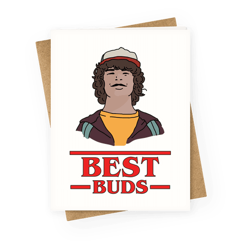 Best Buds Dustin Greeting Card
