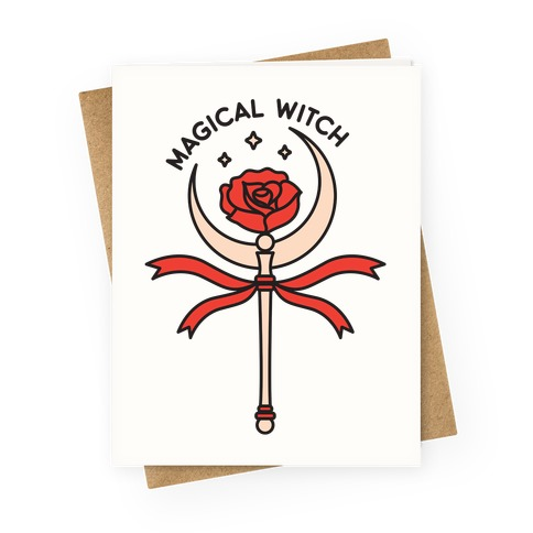 Magical Witch Wand Greeting Card
