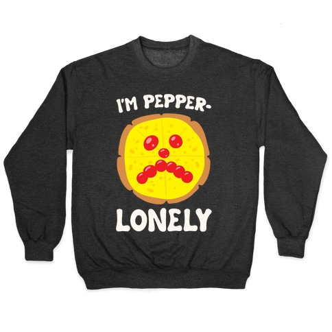I'm Pepper-Lonely White Print Pullover