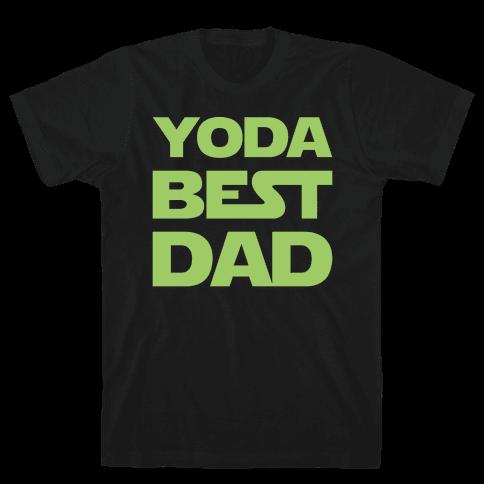 Yoda Best Dad Parody White Print Mens T-Shirt