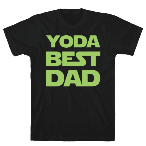 Yoda Best Dad Parody White Print Mens T-Shirt