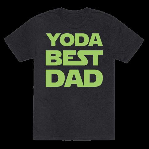 Yoda Best Dad Parody White Print