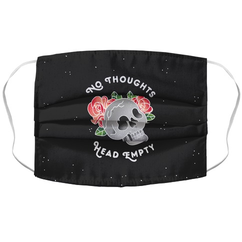 No Thoughts, Head Empty (Variant) Accordion Face Mask
