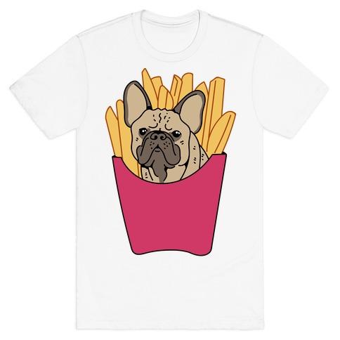 French Fry French Bulldog T-Shirt