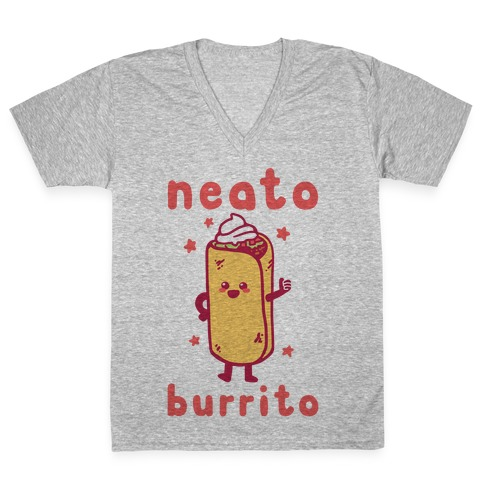 Neato Burrito V-Neck Tee Shirt