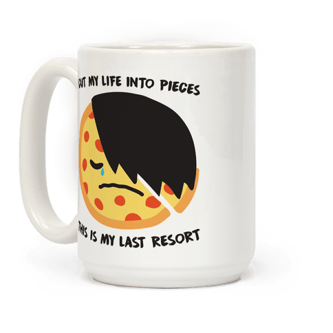 Cut My Life Into Pieces Emo Pizza Coffee Mug
