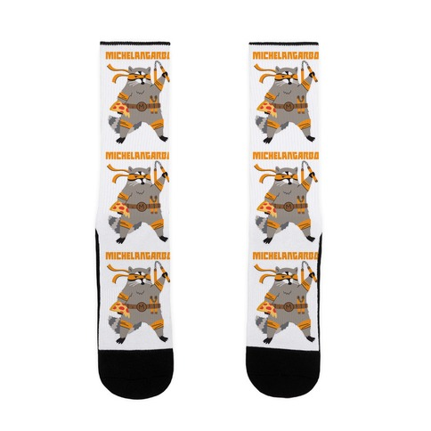 Michelangarbo (Michelangelo Raccoon) Sock