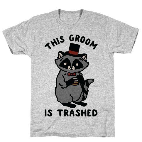 This Groom is Trashed Raccoon Bachelor Party T-Shirt