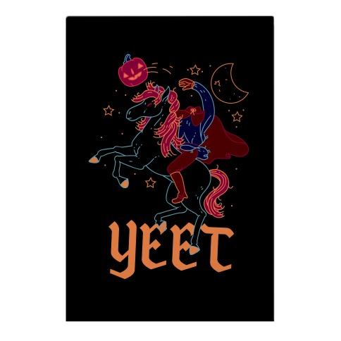 Yeetless Horseman Garden Flag