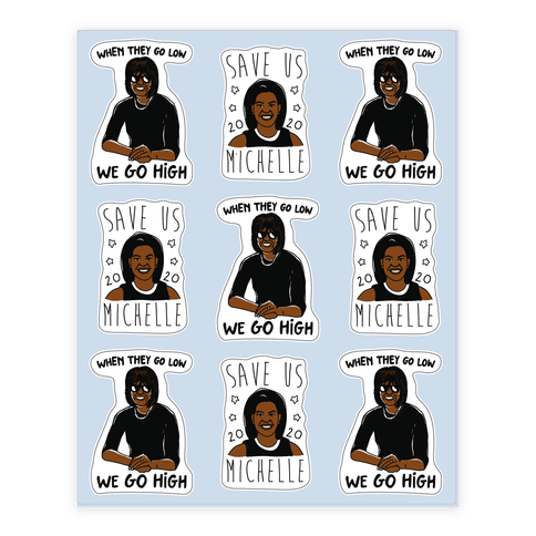 Michelle Obama Sticker Sheet Sticker/Decal Sheet