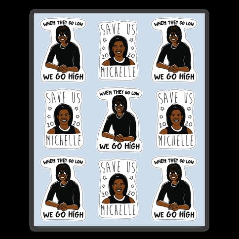 Michelle Obama Sticker Sheet Sticker and Decal Sheet