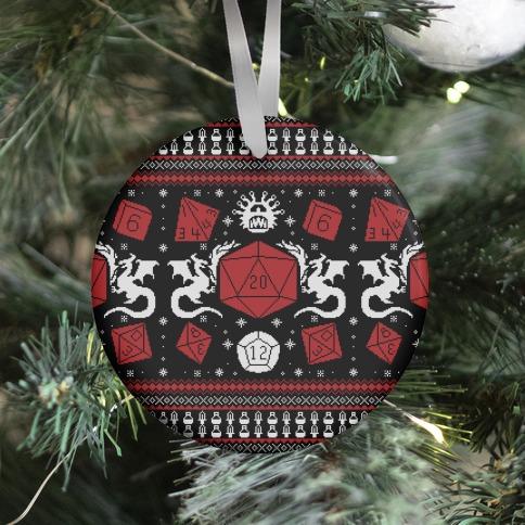 D&D Ugly Sweater Ornament