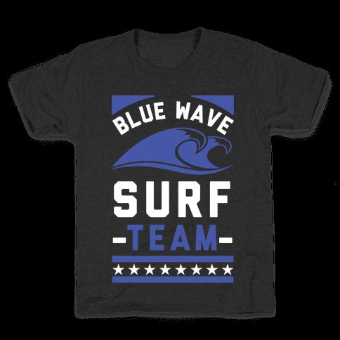 Blue Wave Surf Team Kids T-Shirt