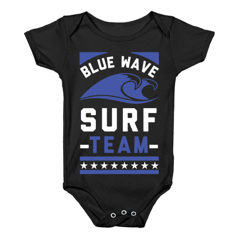 Blue Wave Surf Team Baby Onesy