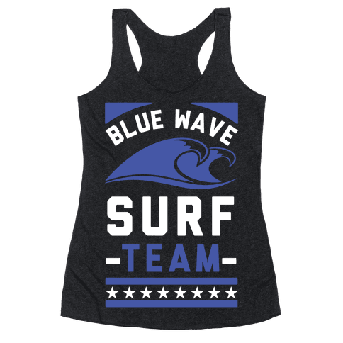 Blue Wave Surf Team Racerback Tank Top