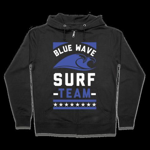 Blue Wave Surf Team Zip Hoodie