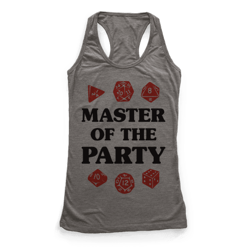 Master of the Party Racerback Tank Top