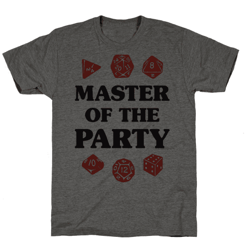 Master of the Party Mens T-Shirt