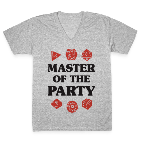 Master of the Party V-Neck Tee Shirt