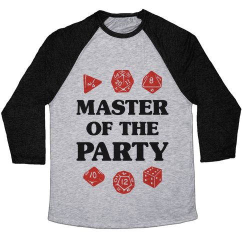 Master of the Party Baseball Tee