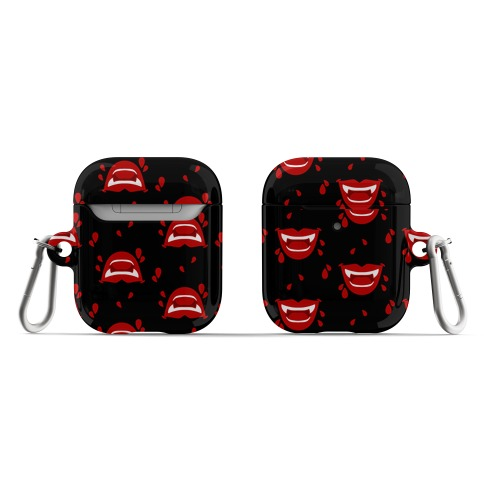 Red Vampire Lips Pattern AirPod Case