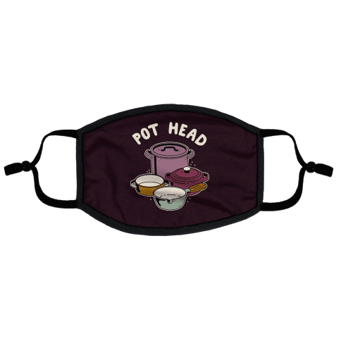 Pot Head Cooking Pots Flat Face Mask