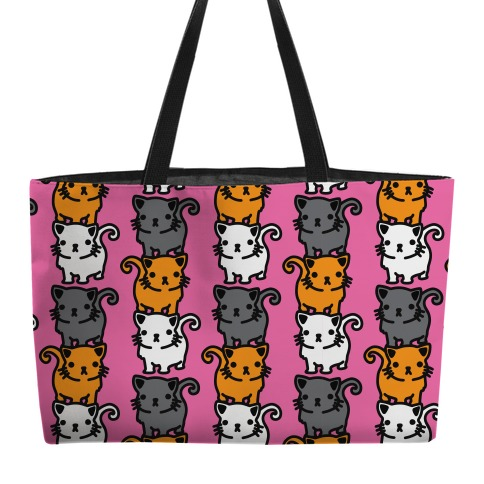 Kitty Stack Pattern weekender