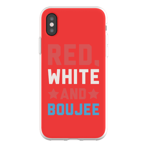Red White And Boujee Phone Flexi-Case