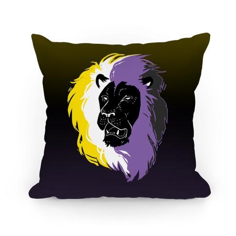 Non-binary Lion Pride Pillow