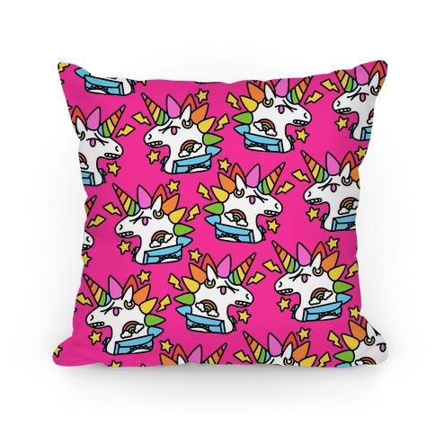 Punk Unicorn Pattern Pillow