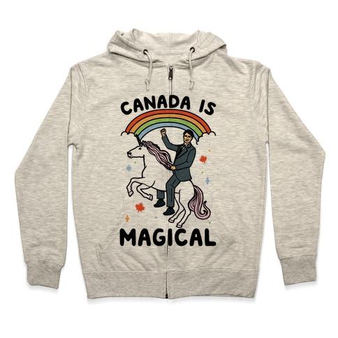 Canada Is Magical  Zip Hoodie