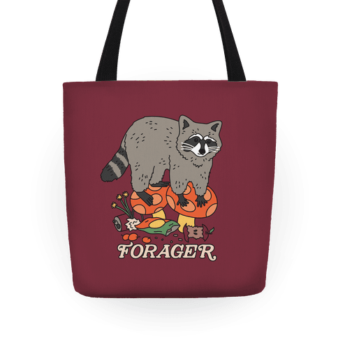Forager Raccoon Tote