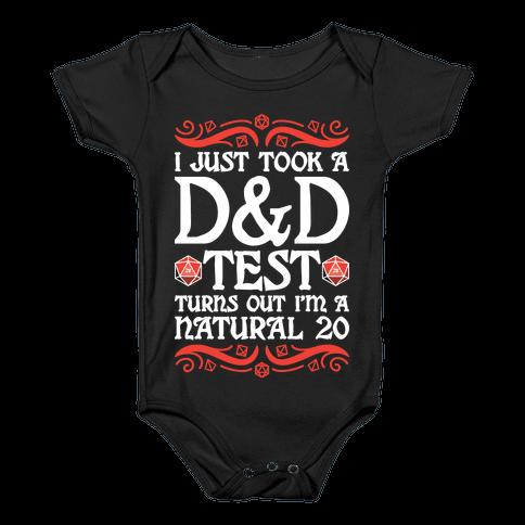 I Just Took A D&D Test Turns Out I'm A Natural 20 Baby Onesy