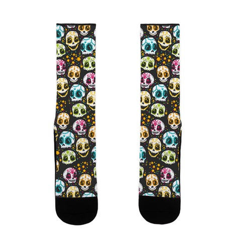 Day Of The Dead Skulls Sock