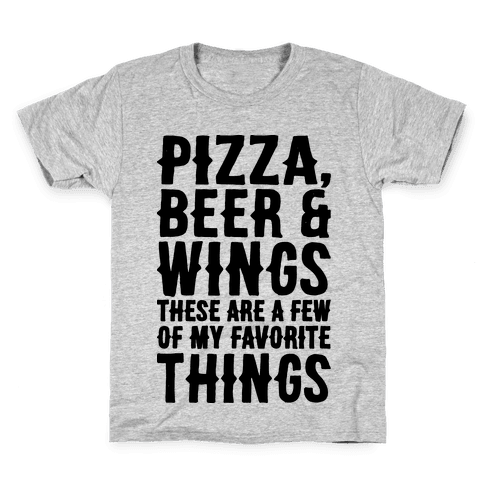 Pizza Beer & Wings Kids T-Shirt