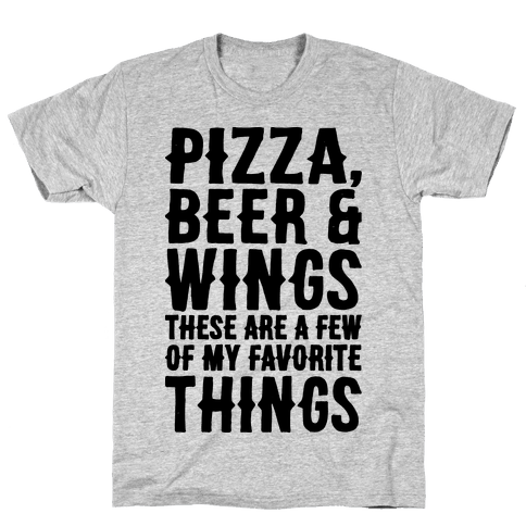 Pizza Beer & Wings  Mens T-Shirt