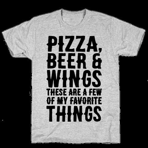 Pizza Beer & Wings  Mens T-Shirt