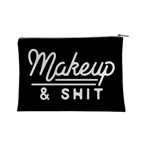 LookHUMAN Makeup and Shit Accessory Bag - 12.5 x 8.5 Inches