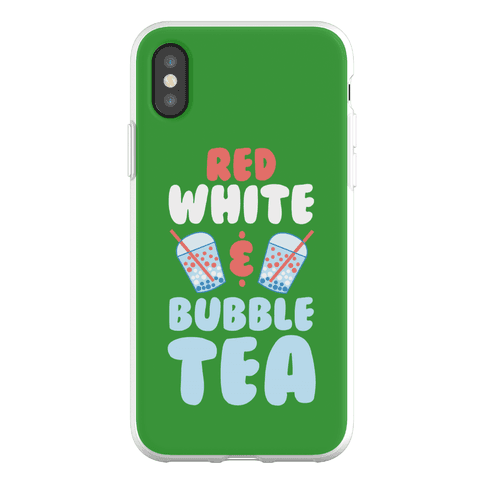 Red, White & Bubble Tea Phone Flexi-Case