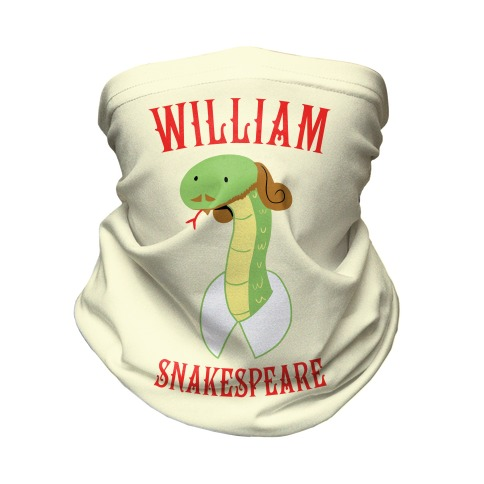William Snakespeare Neck Gaiter