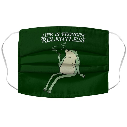 Life Is Froggin' Relentless Frog Accordion Face Mask