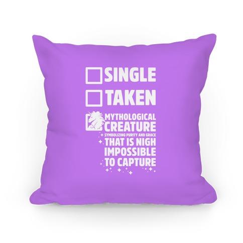 Single Taken Mythological Creature Pillow
