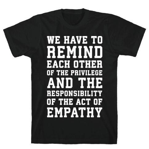 The Act of Empathy White Print Mens T-Shirt