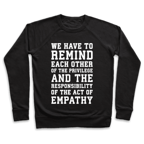The Act of Empathy White Print Pullover